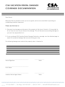 Csa Vacation Rental Damage Coverage Documentation Template