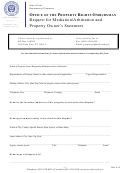 Request For Mediation/arbitration And Property Owner's Statement - State Of Utah