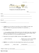 Temporary Custody Receipt Form - Monroe County History Center