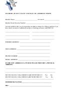 Change Of Address Form - Florida West Coast Credit Union