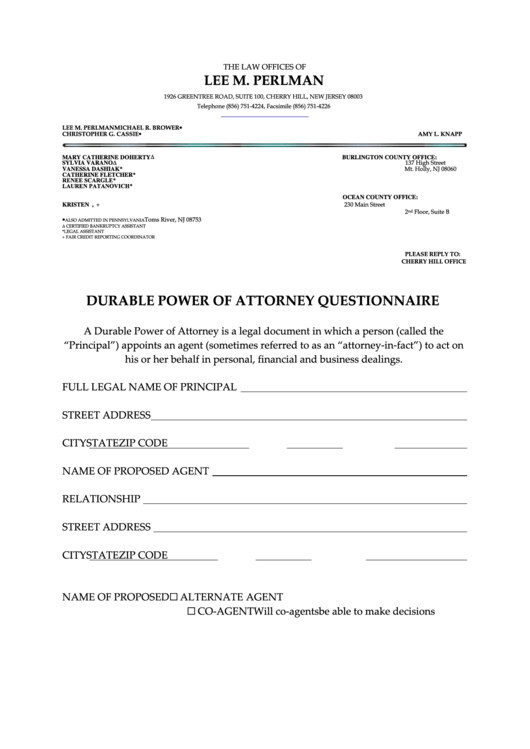 Top 11 Power Of Attorney Form Nj Templates Free To Download In Pdf
