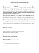 Sample Employee Authorization Form - Divorce Solutions, Llc