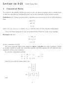 Math Canonical Form
