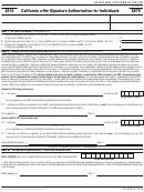 Form 8879 - California E-file Signature Authorization For Individuals - 2016