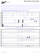 Employment Application Form - Life Touch
