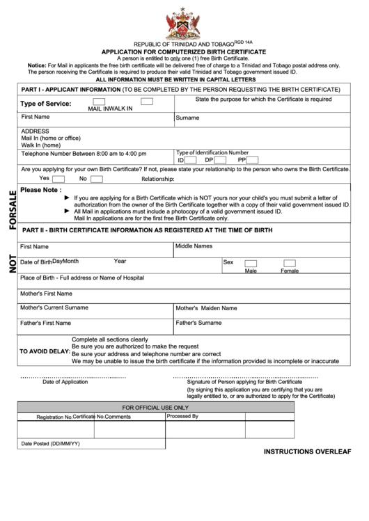 page_1_thumb_big Trinidad Pport Application Form Printable on