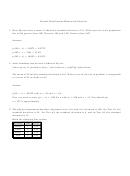 Normal Distributions Homework Solutions