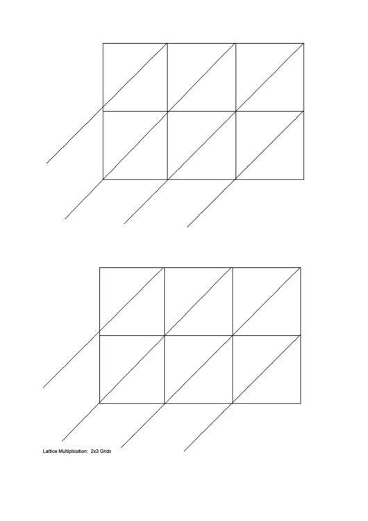 Lattice Multiplication Printable pdf