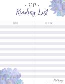 Reading List - 2017