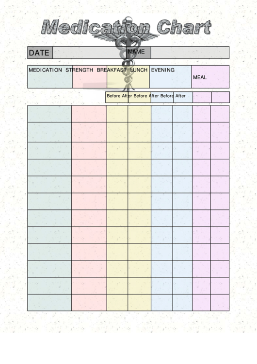 medication schedule chart