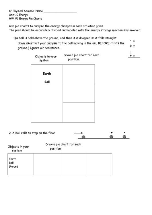 Energy Pie Charts Worksheet Template printable pdf download