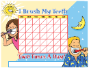 Brushing Chart Kids Color - Kissimmee Childrens Dentistry