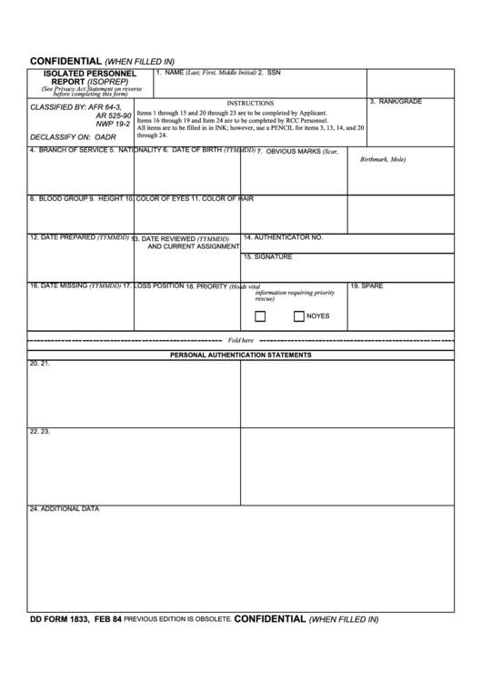 Top Dd Form 1833 Templates free to download in PDF, Word and Excel ...