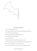 Bat Garland Template With Instructions