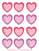 Valentine's Day Heart Tags Template