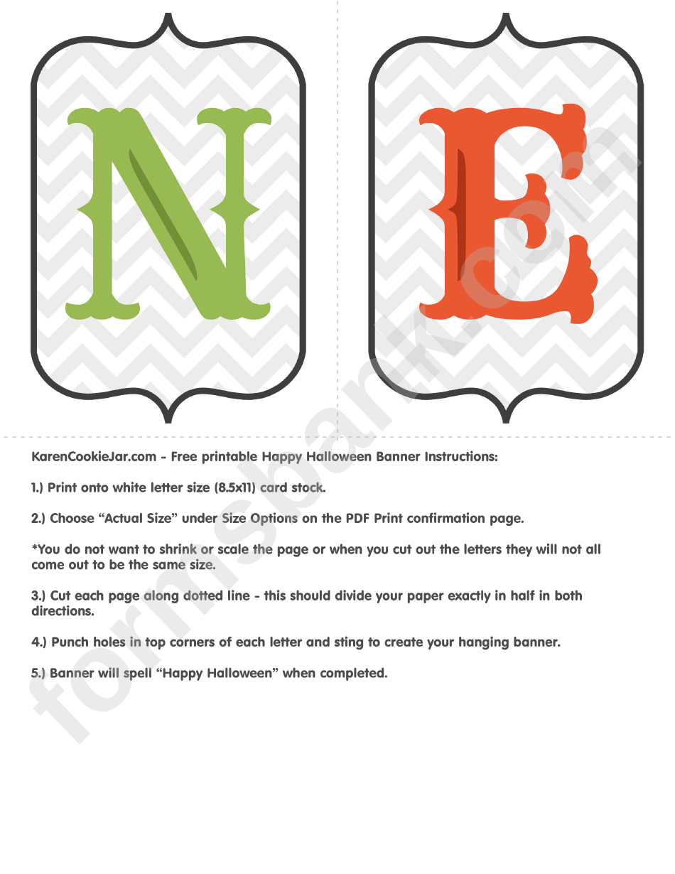 happy halloween banner banner letter template