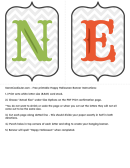 Happy Halloween Banner Banner Letter Template