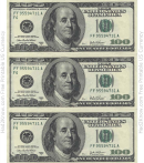 One Hundred Dollar Bill Template - Front