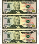 Fifty Dollar Bill Template - Front