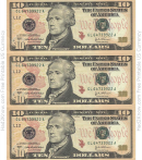 Ten Dollar Bill Template - Front