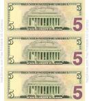 Five Dollar Bill Template - Back