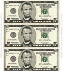 Five Dollar Bill Template - Front