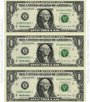 One Dollar Bill Template - Front