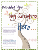 Becoming Like My Scripture Hero - Character Planning Sheet Template