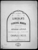 Lincoln's Funeral March By Hess Piano Sheet Music