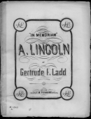 In Memoriam A. Lincoln By Ladd Piano Sheet Music