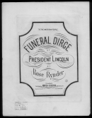 Prest. Lincoln's Funeral Dirge By Rynder Piano Sheet Music