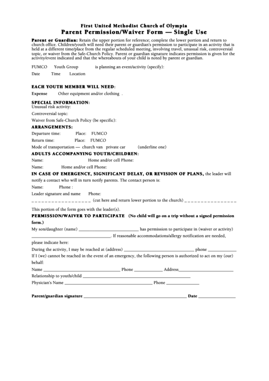 field trip permission slip template pdf