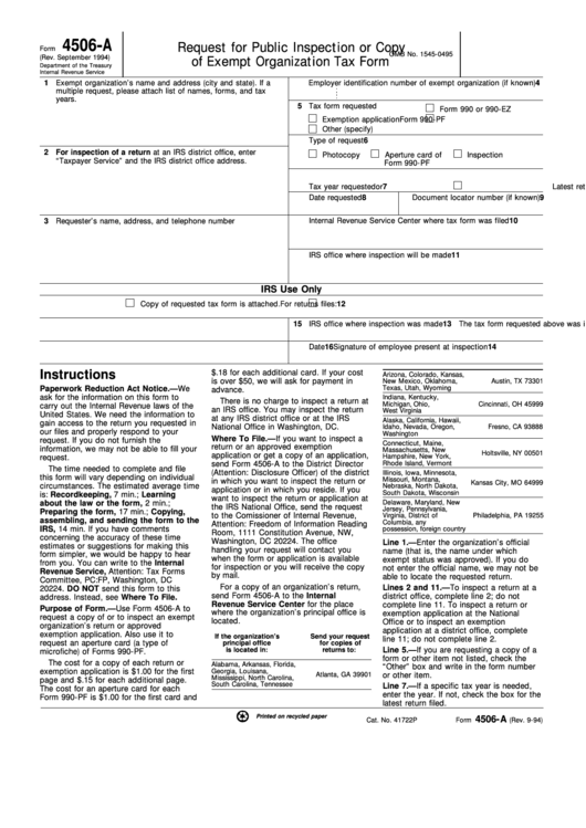 Top 8 Form 4506-a Templates free to download in PDF, Word and ...