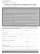 Additional Borrower Authorization Form - New-york