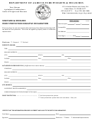 Frost Protection Negative Declaration Form