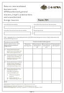 Apra Form 701 - Australia
