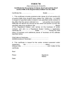 Certificate For The Purpose Of Clause (b) Of Sub-section (5) Of Section 59b Of The Gujarat Value Added Tax Act, 2003 (form 701)