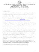 Complaint Form - North Carolina Marriage And Family Therapy Licensure Board
