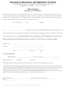 Direct Deposit Request Form - Franklin Regional Retirement System