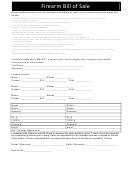 Firearm Bill Of Sale (illinois Version)