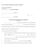 4a-301. Petition For Dissolution Of Marriage