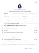 Indian Customs Declaration Form