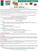 Pre-selling Order Sheet - Krispy Kreme