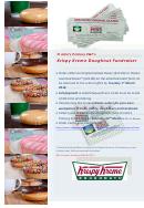 Krispy Kreme Doughnut Fundraiser Order Form