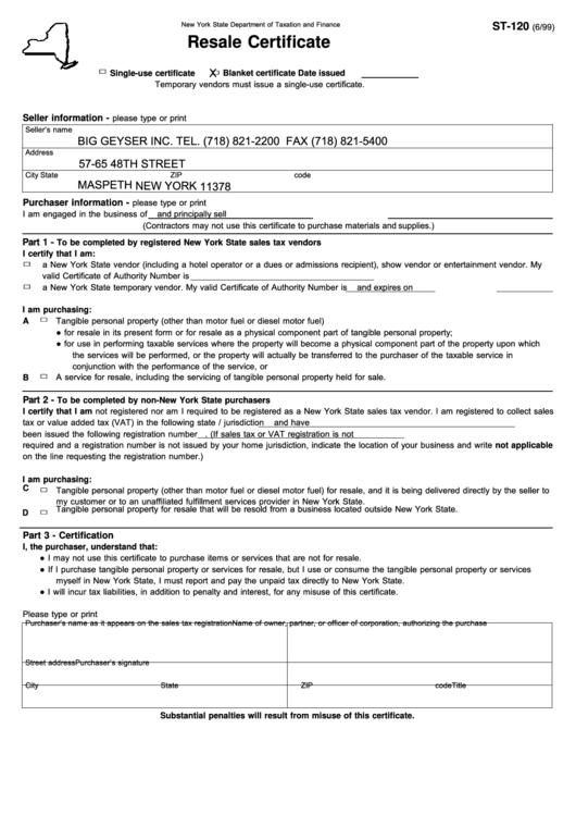 Top New York State Form St 120 Templates Free To Download In Pdf Format