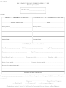 Highway Entrance Permit Application