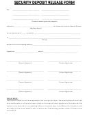 Security Deposit Release Form