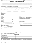 Form For Transfer Of Shares