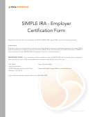 Simple Ira - Employer Certification Form - Azzad Funds