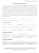 Prom Dress/accessory Release Form
